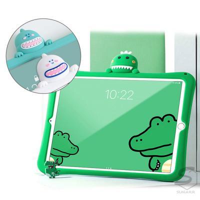 아이패드 프로 에어 미니 1 2 3 4 5 6 7 8세대 공룡 악어 캐릭터 스탠드 실리콘 태블릿 케이스