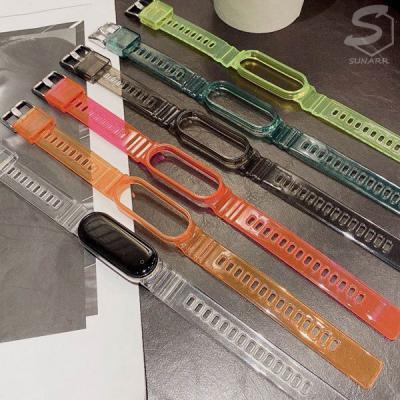 샤오미 미밴드5 투명 TPU 케이스 일체형 스트랩