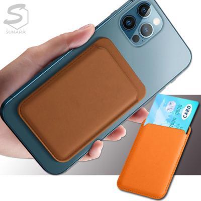 아이폰12 미니 프로 프로맥스 MagSafe형 가죽 카드지갑 자석 포켓 핸드폰 홀더