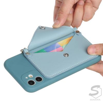 갤럭시A21 A21s A215 A217 크로스바디 체인 줄 목걸이 스트랩 카드수납 핸드폰 케이스