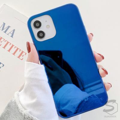 아이폰XS XS맥스 심플 컬러 하드 미러 핸드폰 케이스