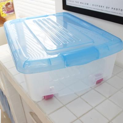 투명 이동식 서랍장 2P(소)