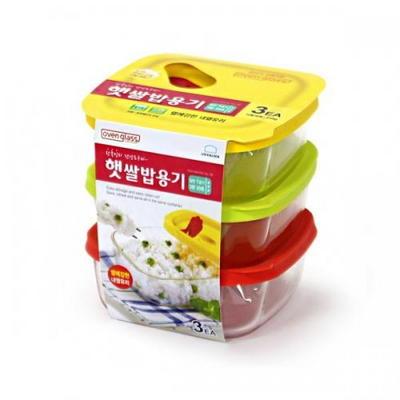 락앤락글라스 햇쌀밥용기 320ml 3개세트