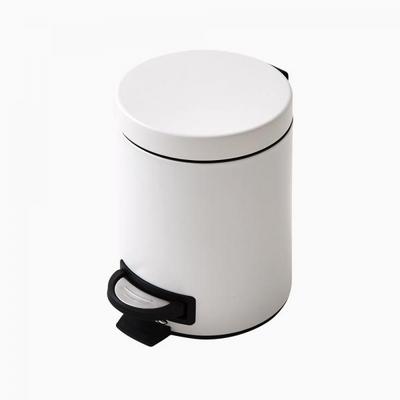 심플라운드 스텐페달 휴지통 5L(화이트)
