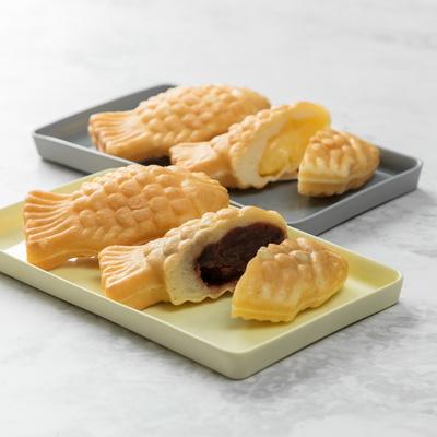 우리밀로 만든 미니 붕어빵 팥,슈크림