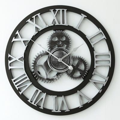 클래식 원형 로마숫자 벽시계