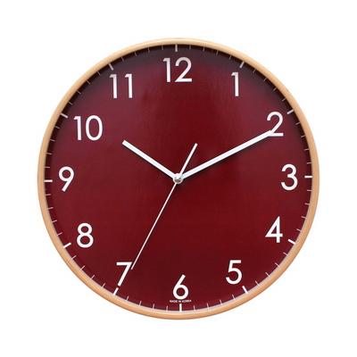 무소음모던심플우드벽시계320
