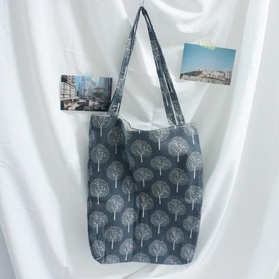 (컬러추가) 블루 트리 린넨 에코백 가벼운 가방