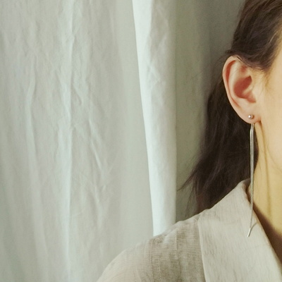 (자체제작) 심플 롱 드롭 스네이크 귀걸이