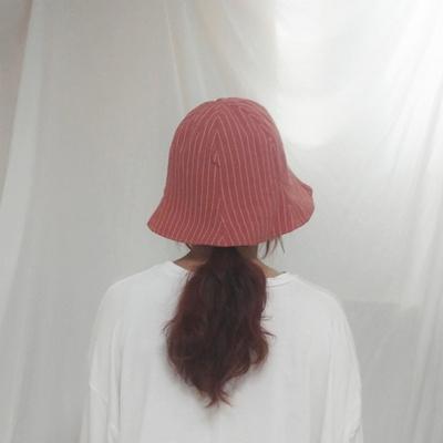 양면 스트라이프 버킷햇 벙거지모자 남녀공용 4color