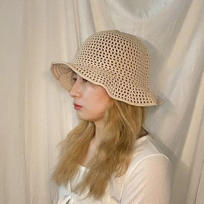 보쉬 뜨개 버킷햇 킷햇 여성 여름 모자