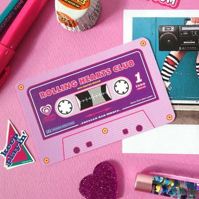 Cassette Card Set_Violet Disco
