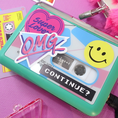 Cassette Sticker Pack_Pink Pop