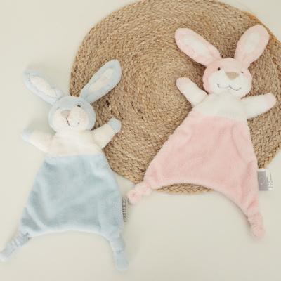 애착손수건 매듭 토끼 애착인형 핑크