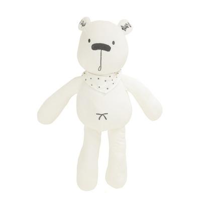 애착인형 턱받이를 한 곰돌이인형