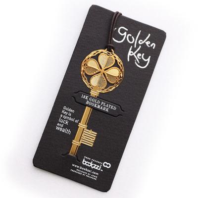 행운의 황금열쇠 - 18k금도금 북마크 책갈피