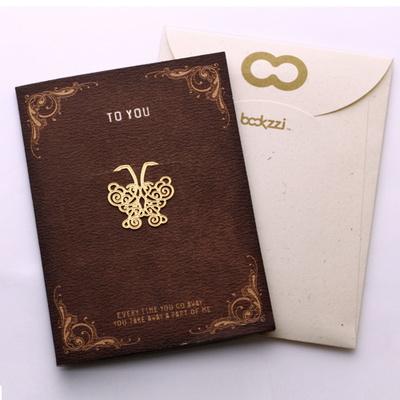 엔틱 나비 - 책갈피 카드