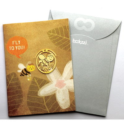 빈티지 스윗허니비 - 책갈피 카드