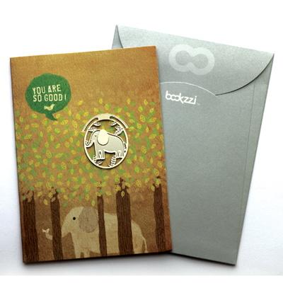 빈티지 코끼리의 숨바꼭질 - 책갈피 카드