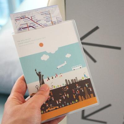 노트형 여권케이스