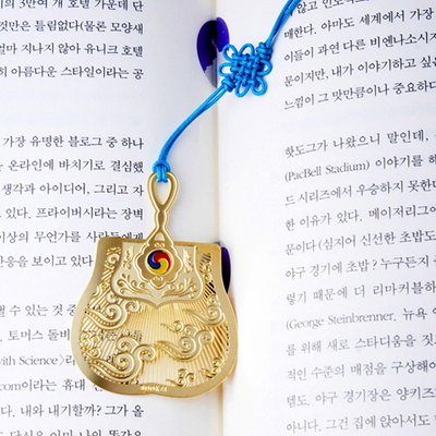 행운의 18K 금장 책갈피꽂이 카드 4종 set