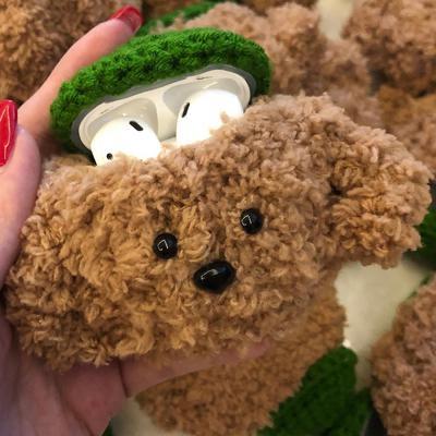 에어팟케이스 에어팟 2세대겸용 푸들 강아지 캐릭터 뜨개질 털케이스
