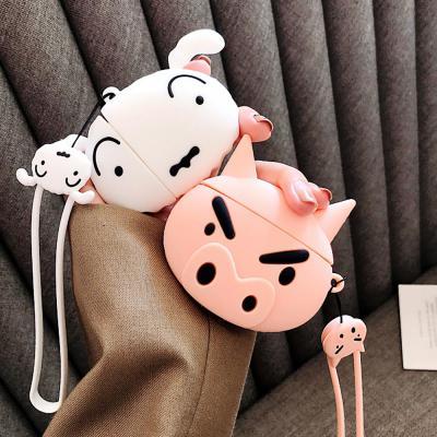 에어팟케이스/1/2/3세대 에어팟프로 귀여운 돼지/흰둥이 얼굴/키링세트/커플추천/철가루스티커증정