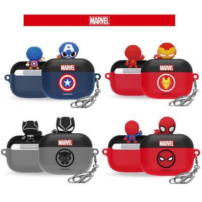 에어팟케이스/프로/3세대 정품 마블 피규어 캡틴/아이언맨/스파이더맨/블랙팬서 캐릭터/철가루스티커증정