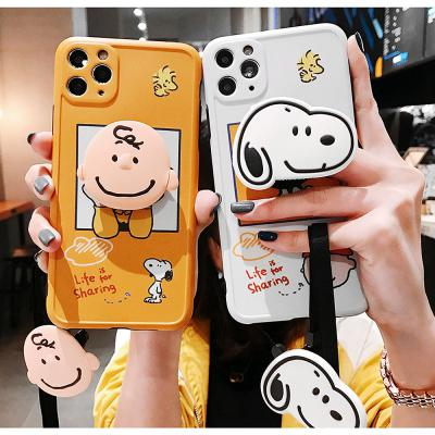 아이폰 12 pro max 미니 11 프로/se2 xs/xr/7/8플러스 캐릭터 그립톡/렌즈보호 커플케이스