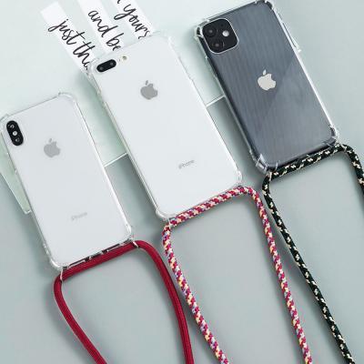 갤럭시 노트10/노트10플러스 노트9 노트8 넥 스트랩/목걸이줄/끈 세트 투명 젤리 휴대폰 케이스