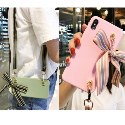 갤럭시 노트20/울트라 s20/s20플러스 노트10+ 파스텔 크로스 넥 스트랩 도난방지 목걸이 휴대폰 케이스
