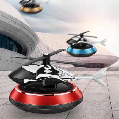 태양열 프로펠러 헬리콥터 차량용 자동차 방향제 플라워가든 블루 색상 MC068 리필 고체