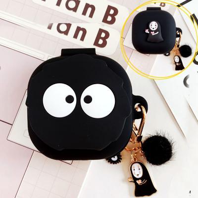갤럭시버즈라이브/버즈 라이브 귀여운 먼지 카오나시 입체 캐릭터 키링 고리 세트 실리콘 케이스