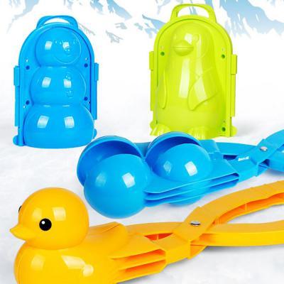 스노우볼 제조기/메이커 눈사람 펭귄 폭탄 곰돌이 토끼 캐릭터 집게 눈뭉치 눈덩이 만들기 선물