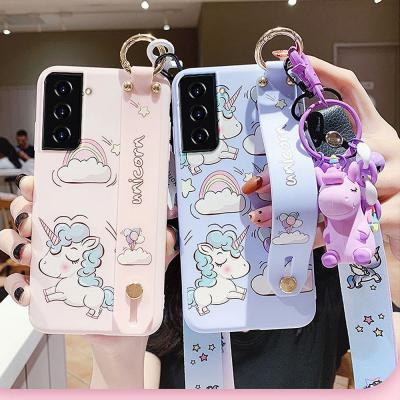 갤럭시s20fe 유니콘 캐릭터 넥스트랩+목걸이 케이스