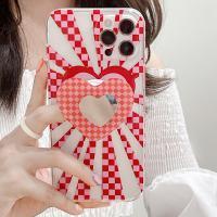아이폰 12 11 미니 pro max x xr xs se2 7 8 반투명 하트 테두리 미러 그립톡 세트 카메라보호 젤리 케이스