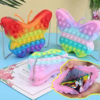 나비모양 팝잇 가방 초대형 대형 푸쉬팝 푸시팝 버블 파빗 뽁뽁이 레인보우 파스텔 키덜트 실리콘