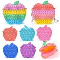 가벼운 사과모양 팝잇 17cm 가방 대형 푸쉬팝 푸시팝 버블 파빗 무한뽁뽁이 레인보우 파스텔 키덜트 실리콘