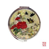 남계우 - 화접도 + 작약꽃과 나비 자개 손거울