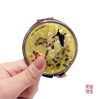 남계우 - 화접도 + 토끼풀과 나비 자개 손거울