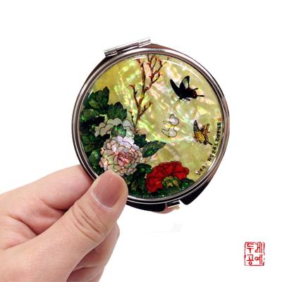 남계우 - 화접도 + 모란꽃과 나비 자개 손거울