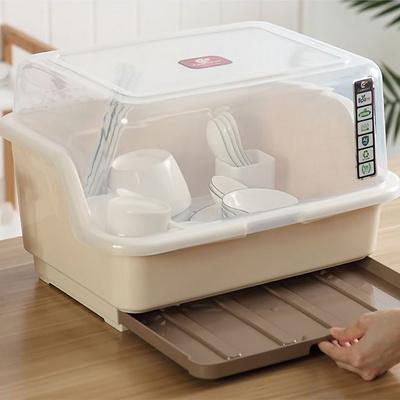 서랍형 뚜껑 물받침 식기건조대