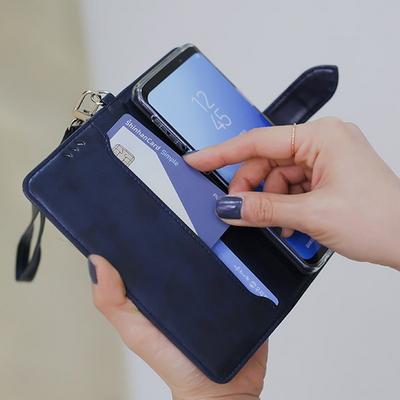 갤럭시진 Jean A6+ 2018용 캐시 지갑 다이어리 케이스