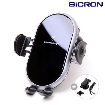 SICRON 15W 차량용 오토 센서 고속 무선 충전 거치대 SHW-500Q