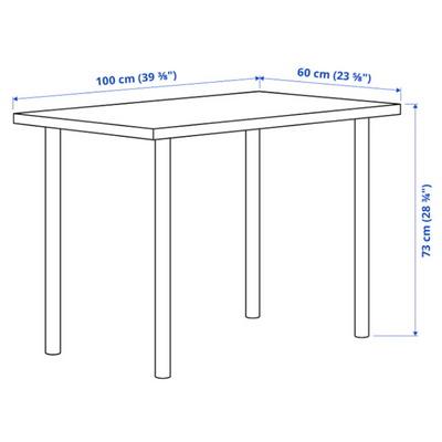 LINNMON 테이블(100X60)+ADILS 기본다리세트