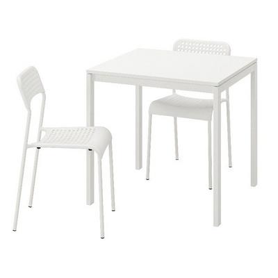 MELLTORP-ADDE 2인용 테이블세트 (의자 포함)