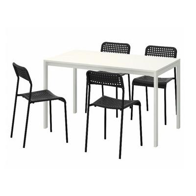 MELLTORP-ADDE 4인용 테이블세트 (의자 포함)