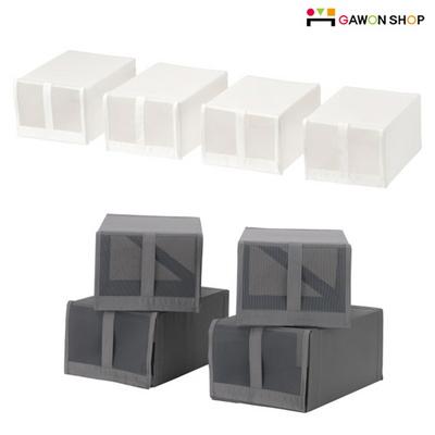 SKUBB 신발 보관 박스 4개세트