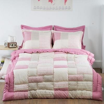 국내산 패치 웰빙 광목 50X70 베개커버 핑크