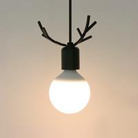 LED 디어1등 펜던트-블랙